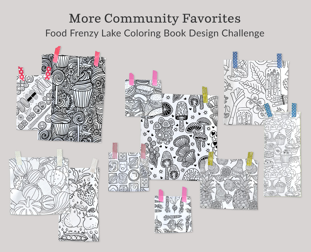 More Community Favorites: Food Frenzy Lake Coloring Book Design Challenge