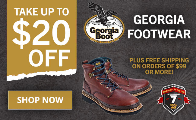 Take Up To $20 Off Select Georgia Boots + FREE Shipping!