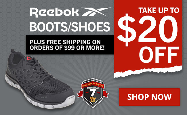 Take Up To $20 Off Select Reebok Boots + FREE Shipping!