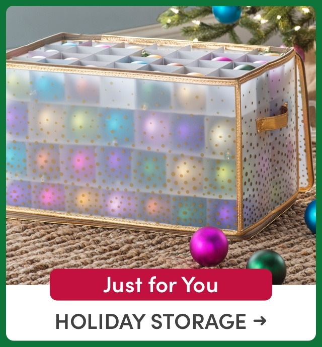 Just for You: Holiday Storage