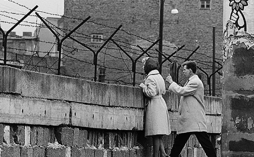 Image result for pictures of people trying to go over the berlin wall