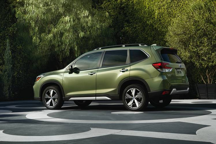 OUT WITH THE OLD? Beyond added safety tech, the              2019  Forester is nothing new.
