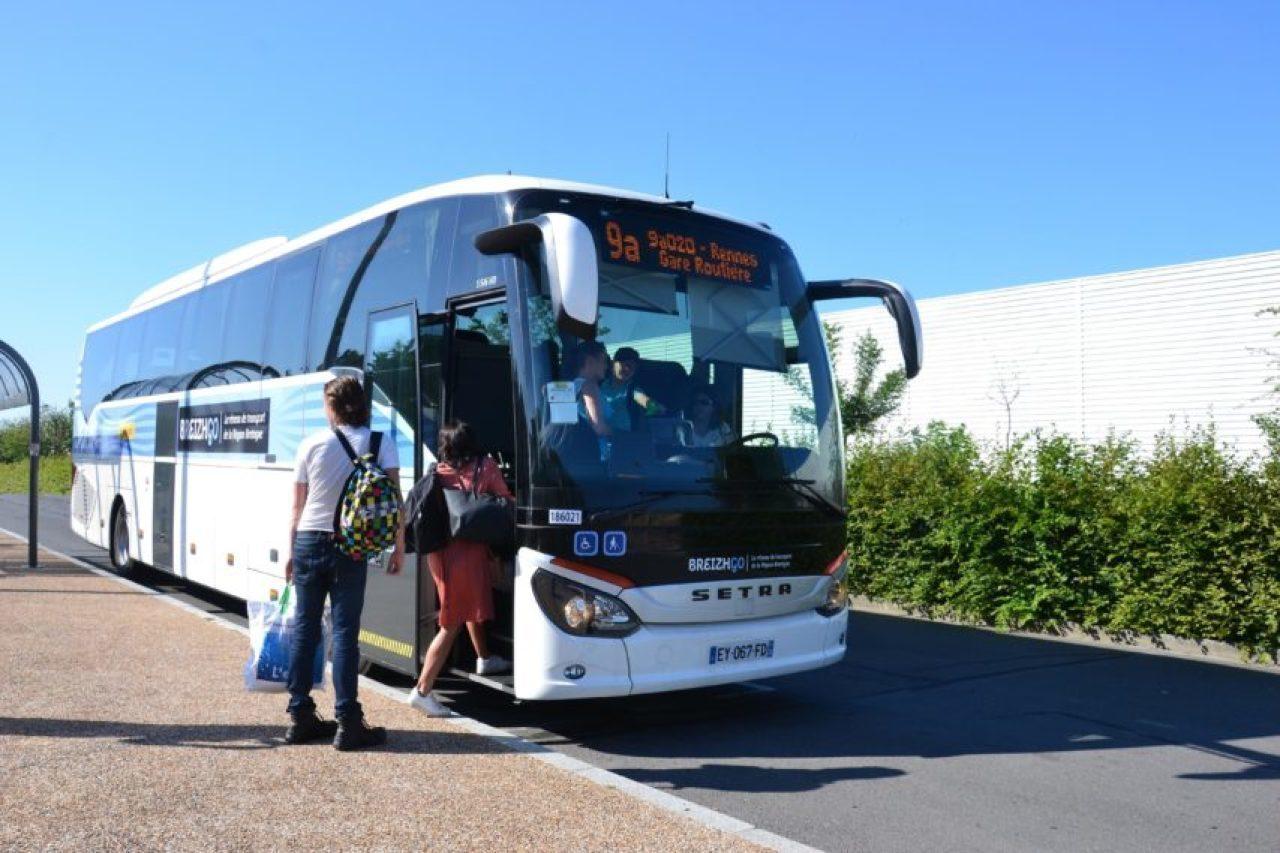 BreizhGo est le réseau de transport de la région Bretagne