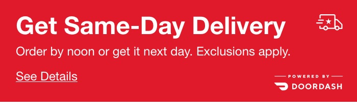 Get Same-Day Delivery, Order by noon or get it next day. Exclusions apply. See Details.