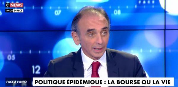 """Zemmour sur le confinement et le manque de tests massif : """"Mais on est quoi ? Au Gabon ? L'Etat est désorganisé et incapable de prévoir. La pseudo-guerre de Macron, c'est ridicule"""" (Vidéo)"""