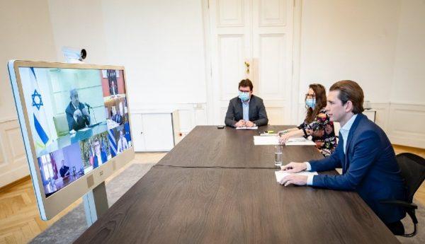"""Le chancelier autrichien, Sebastian Kurz : """"Grâce aux conseils de Benjamin Netanyahu, nous avons réduit le nombre d'infections"""""""