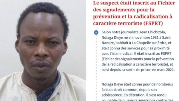 Le terroriste islamiste Ndiaga Dieye a été abattu, 2 gendarmes ont été blessés. Mélenchon plein de compassion estime qu'il s'agit d'un simple schizophrène