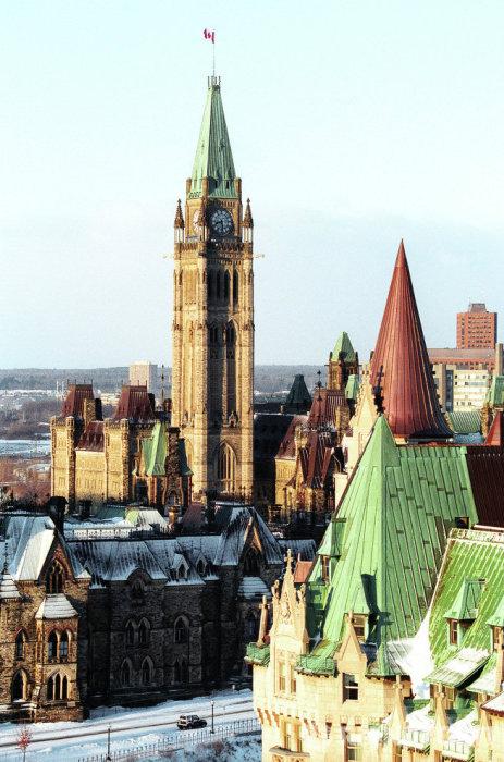Башня Мира (Peace Tower), часть здания Парламента, Оттава, Канада