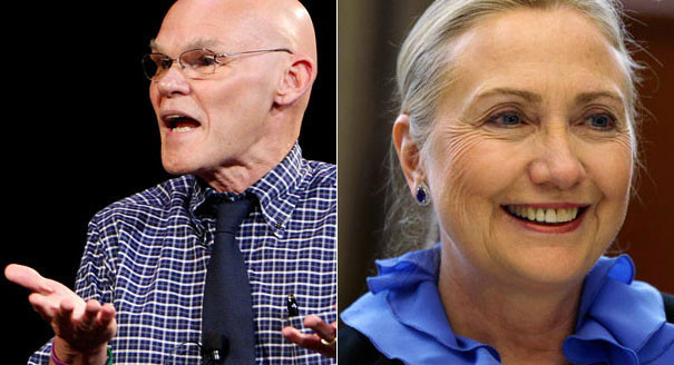 Image result for cartoons hillary and james carville