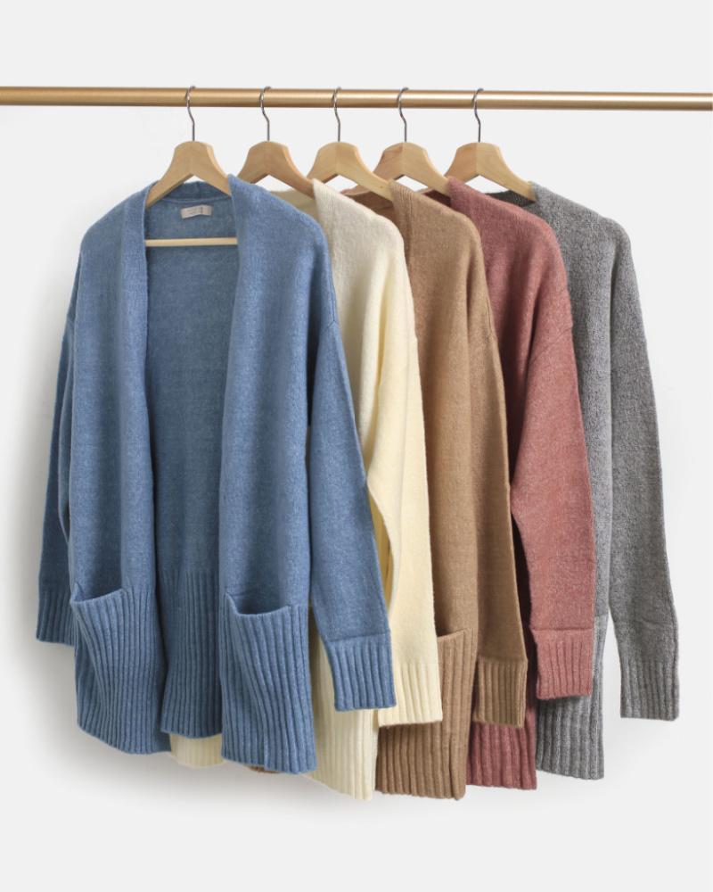 开襟羊毛衫