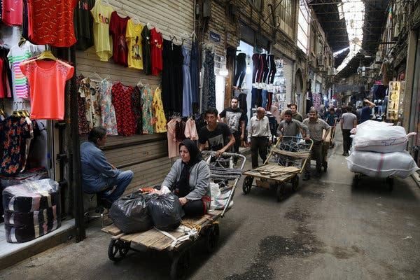 The old bazaar in Tehran, Iran.