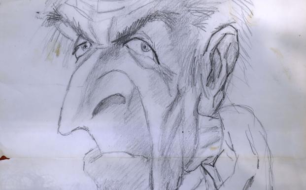 Fue uno de los últimos dibujos del menor y se convirtió en una pieza clave para la policía