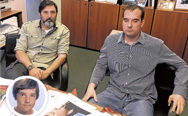Jorge Guerrero, hermano de David, a la izquierda, y Daniel Carretero/FÉLIX LORENZO