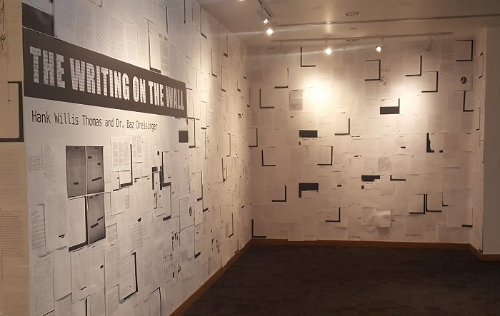 "Photo of ""The Writing on the Wall"" at the Frost Art Museum FIU, for Art Basel Season in Miami."