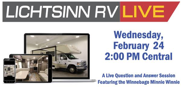 Lichtsinn RV Live - Q&A on the Winnebago Minnie Winnie