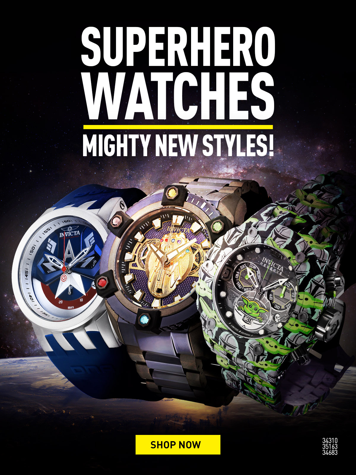 Superhero Watches. Mighty new styles!