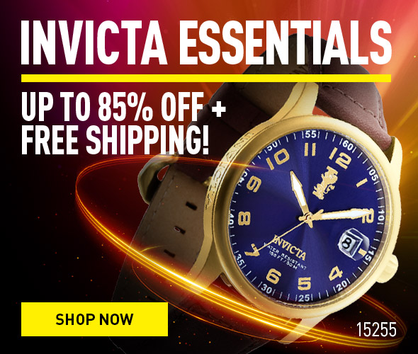 Invicta Essentials. Up to 85% off + Free Shipping!