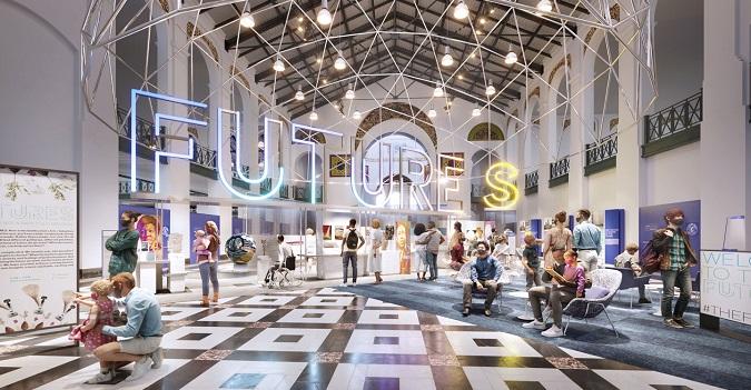 FUTURES exhibit concept art