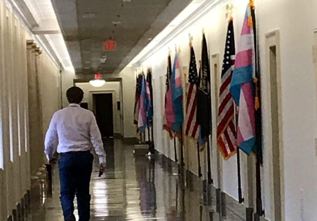 """Dems Removed POW/MIA Flags From In Front Of Their Offices, Replace Them With """"Transgender Flag"""""""