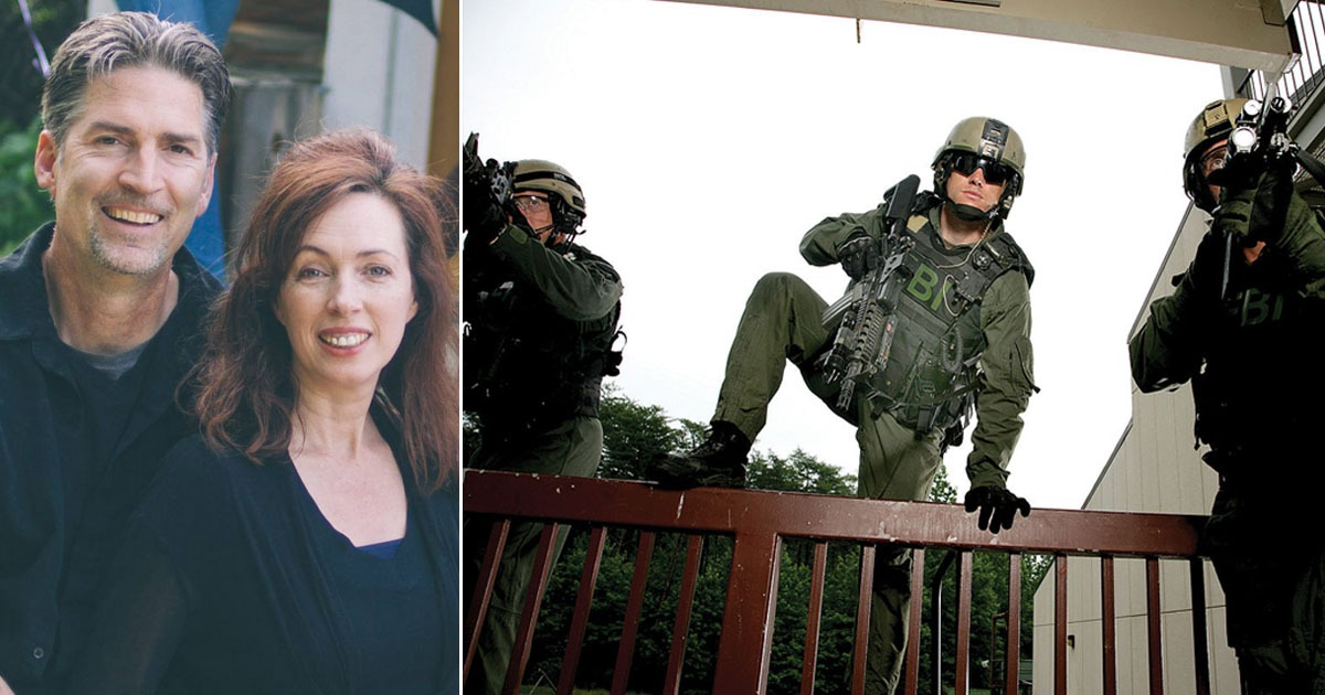 Heavily Armed Biden Goon Squad Storms Trump Supporters' House Looking For Pelosi's Dirty Laundry