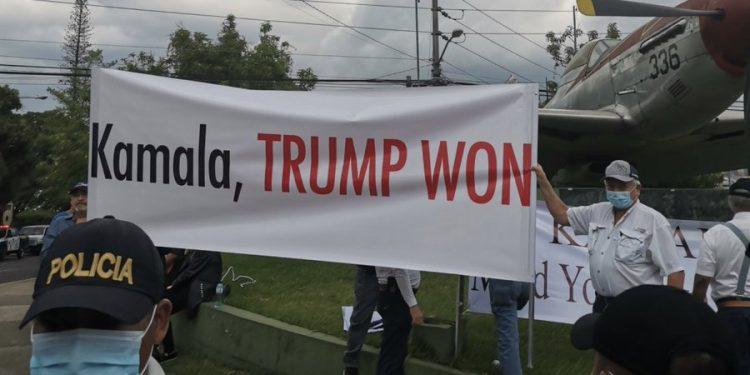Kamala Humiliated! Met With Huge Sign: 'GO HOME, TRUMP WON!'