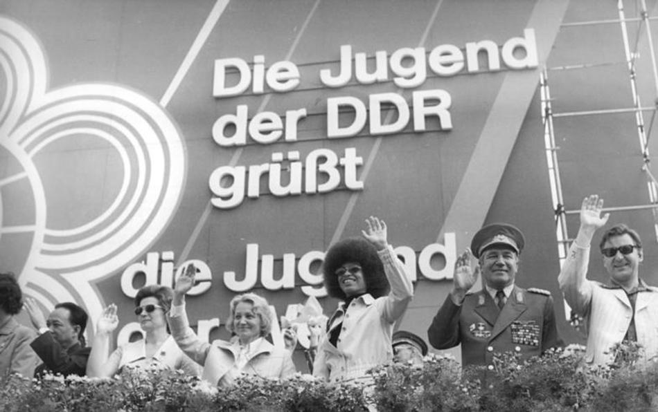 Berlin, 10. Weltfestspiel, Demonstration, Ehrentribüne