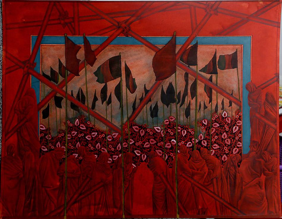 Mohsen Taasha Wahidi (Afghanistan), Rebirth of the Red, 2017.>