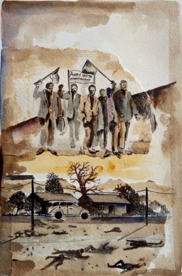 Philani E. Mhlungu (South Africa), Paris Commune 150, 2021.