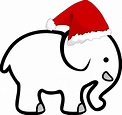White Elephant With Santa Hat Clip Art at Clker.com -         vector clip art online, royalty free ...