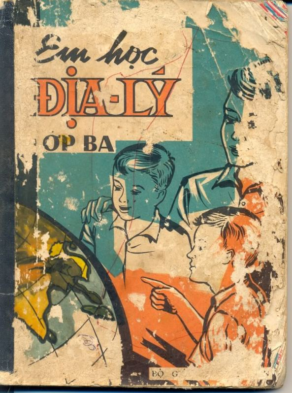 Trang bìa sách Địa Lý lớp Ba