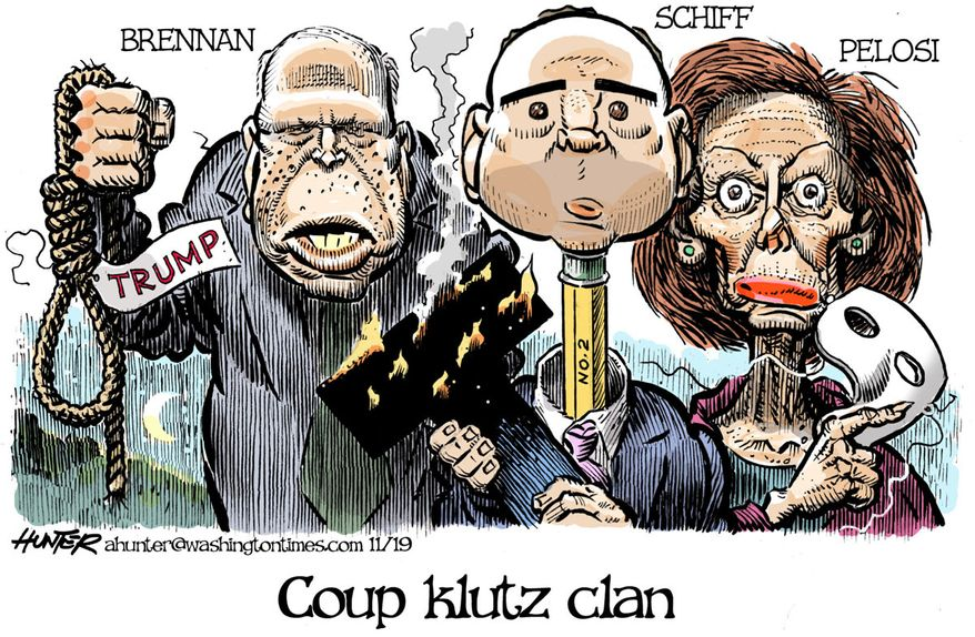 Image result for cartoons democrat trump coup fails