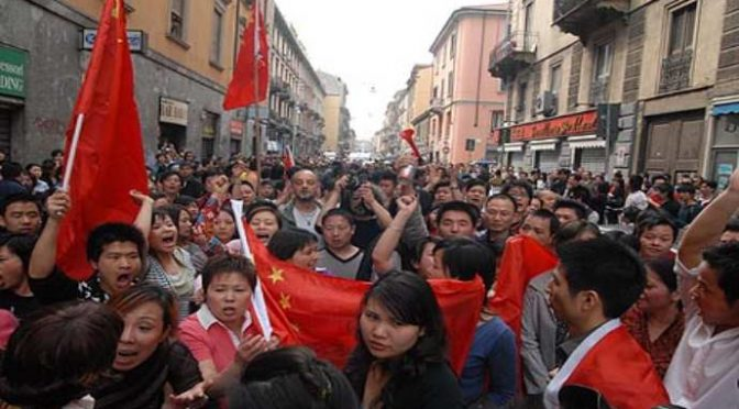 Der häufigste Zuname in Mailand: 胡 (Hu)