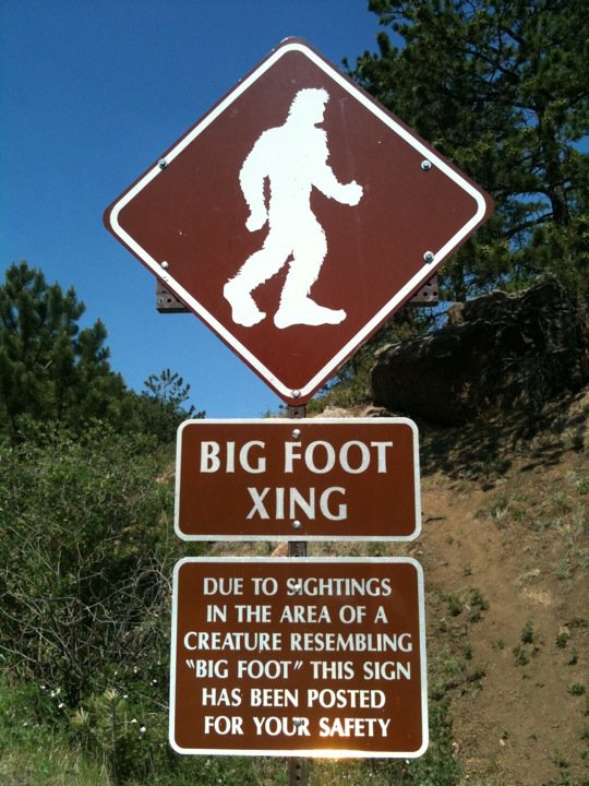 Big Foot Warning Sign