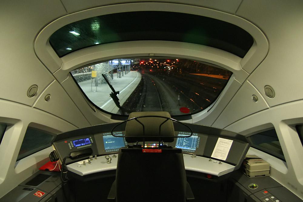 Modern Locomotive Cab