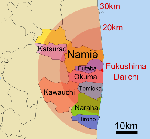 Fukushima Disaster Evacuation Zones