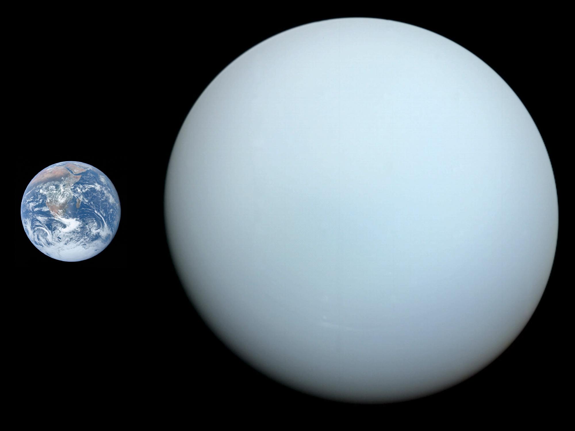Uranus and Earth