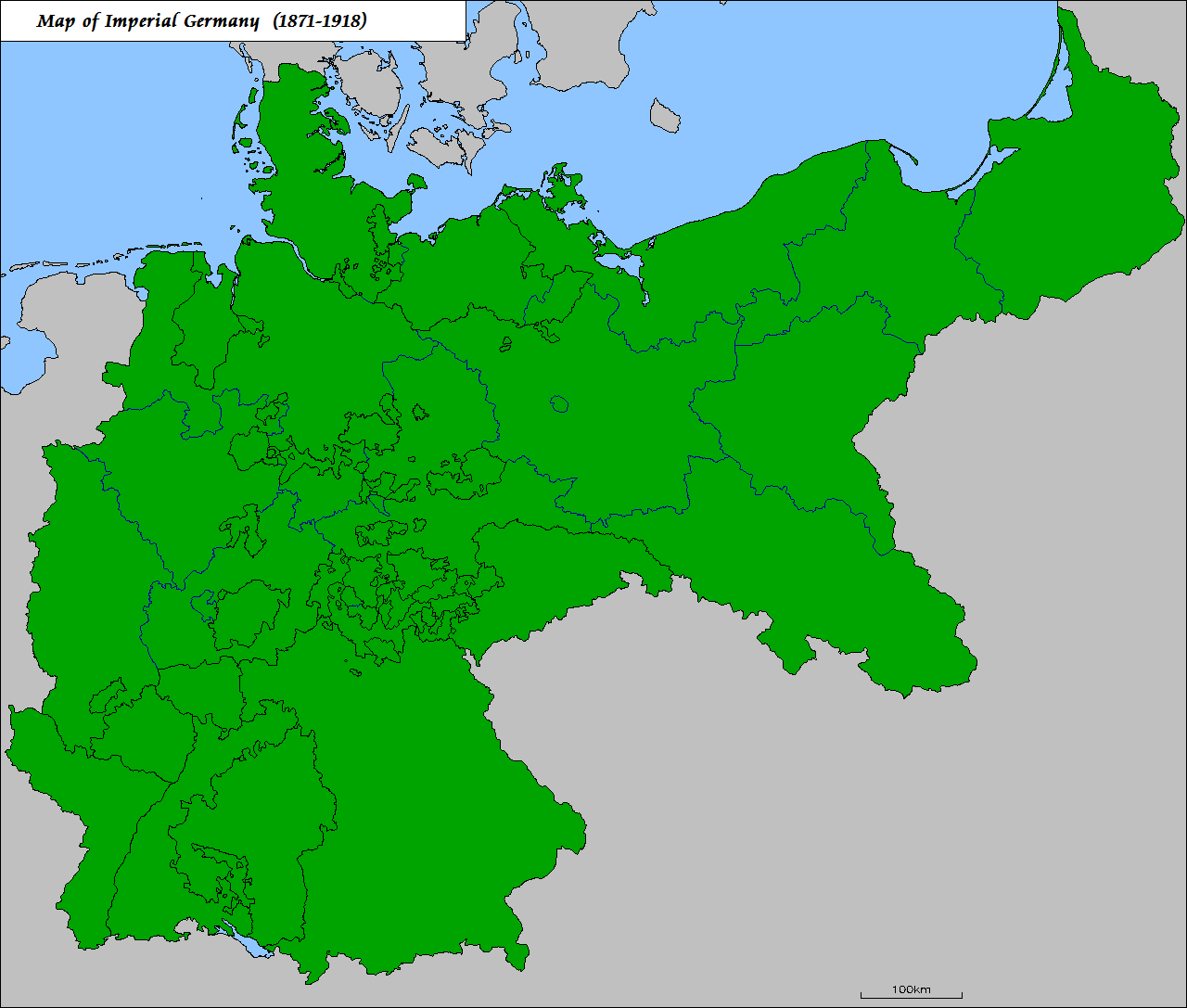 German Map 1909