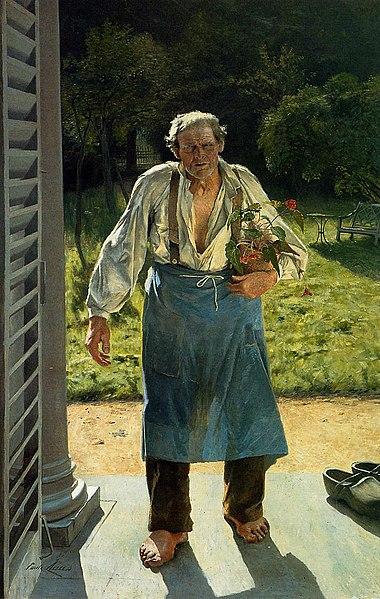 """Résultat de recherche d'images pour """"""""Le vieux Jardinier""""/Emile Claus photo"""""""