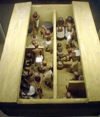 Mô hình lò bánh mì và xưởng làm bia, thuộc Triều đại thứ 11 của Ai Cập, khoảng 2009–1998 năm TCN