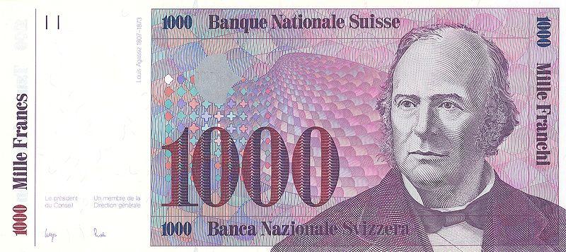 1000 Swiss Francs