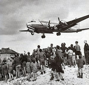Image result for picture of planes flying over the berlin airlift