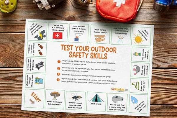 printable activities for camping kids