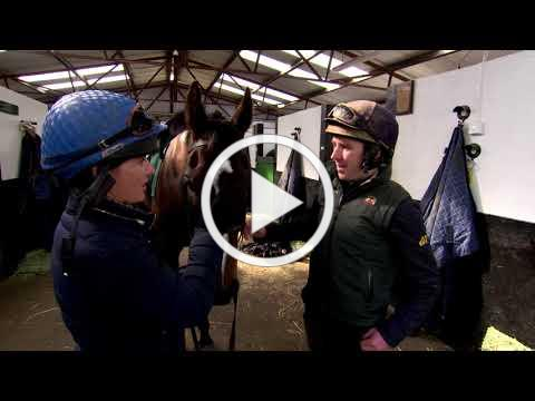 Katie Walsh rides Willie Mullins' Pleasant Company ahead of the 2019 Grand National