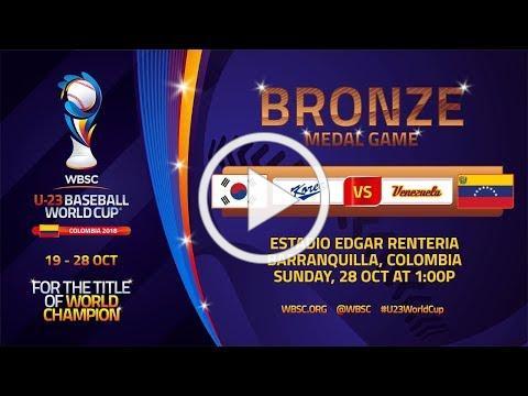 Korea v Venezuela - Bronze medal game - U-23 Baseball World Cup 2018