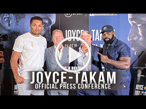 Joe Joyce and Carlos Takam Face-Off for the First Time at the Final Presser