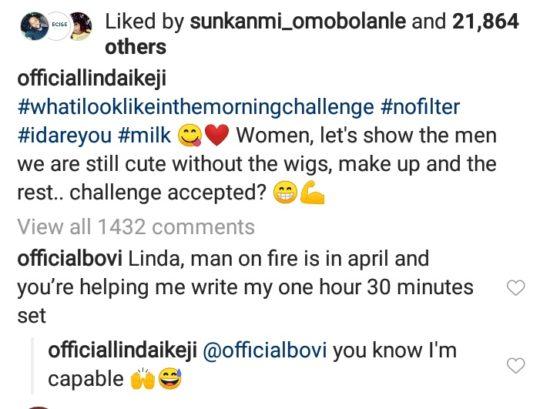 Linda Ikeji Expose Massive Cleavage In Underwear