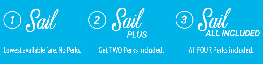 Sail, Sail Plus or Sail All Included!