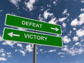 What is the secret to overcoming defeat?