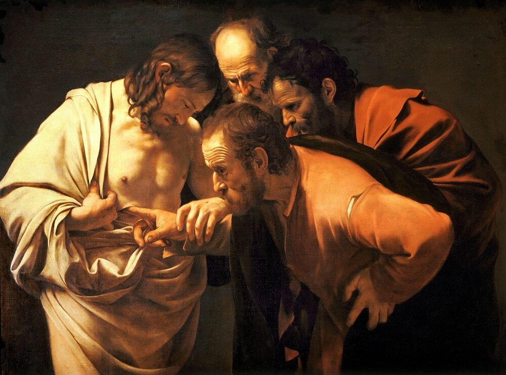 The Incredulity of Saint Thomas, 1603 by Caravaggio