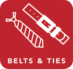 icon of belt and tie which are acceptable for recycling